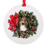 Sheltie Keepsake/Ornament (Round)