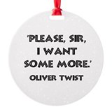 Oliver Twist Quote Ornament (Round)