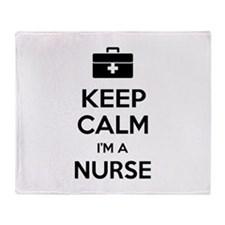 Keep calm I'm a nurse Throw Blanket