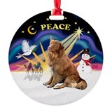 Xmas Sunrise - Nova Scotia Dog Ornament (Round)