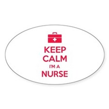 Keep calm I'm a nurse Stickers