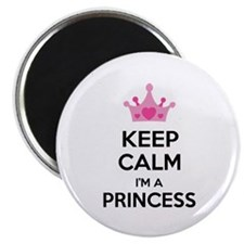 "Keep calm I'm a princess 2.25"" Magnet (100 pack)"
