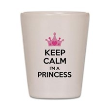 Keep calm I'm a princess Shot Glass