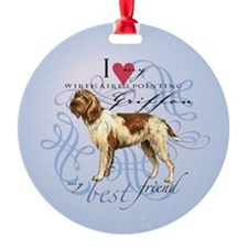 Wirehaired Pointing Griffon Ornament (Round)