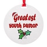 Greatest Youth Pastor Ornament (Round)