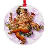 Ganesh Dancing Ornament (Round)