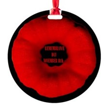 Remembrance Day Ornament (Round)