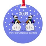 Our First Christmas Together (Snowwomen) Ornament