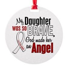 Angel 1 DAUGHTER Lung Cancer Ornament (Round)