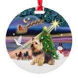 Xmas Magic & Norwich Terrier Ornament (Round)