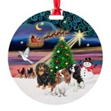 Xmas Magic - 3 Cavaliers - Ornament (Round)