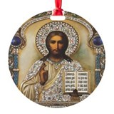 Image Of Christ Pantocrator Ornament (Round)