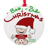 Stocking Cap 2nd Christmas 2011 Ornament (Round)