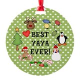 Best YaYa Ever Christmas Ornament (Round)