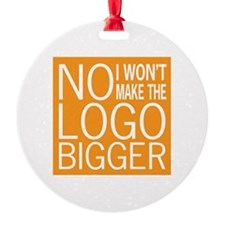 No Big Logos Ornament (Round)