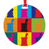 Pharmacology Pop Art Ornament (Round)