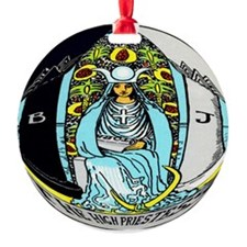 """The High Priestess Tarot Card"" Ornament (Round)"
