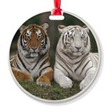 Tiger Yule Tree Ornament (Round)