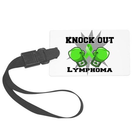 Knock Out Lymphoma.png Large Luggage Tag