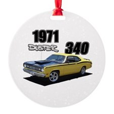 1971 Duster Ornament (Round)