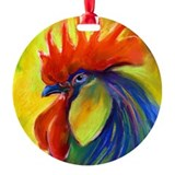 rooster Ornament (Round)