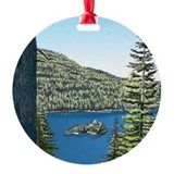 Lake Tahoe Ornament (Round)