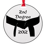 2nd Degree Black Belt Ornament (Round)
