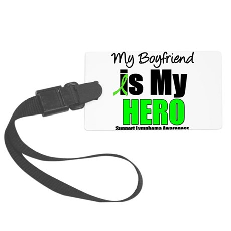 lymphomaheroboyfriend.png Large Luggage Tag