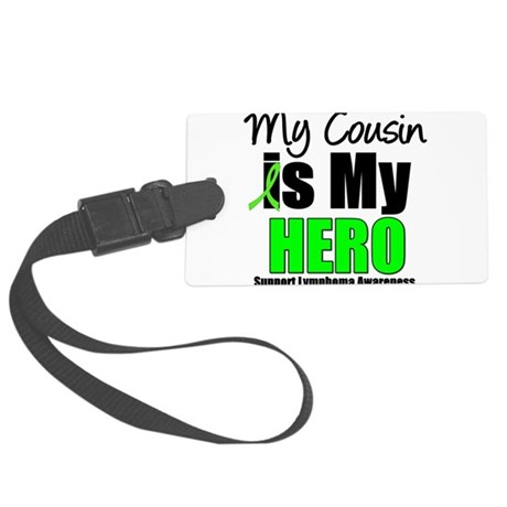 lymphomaherocousin.png Large Luggage Tag