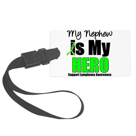 lymphomaheronephew.png Large Luggage Tag