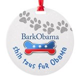 Shih Tzus fur Obama Ornament (Round)