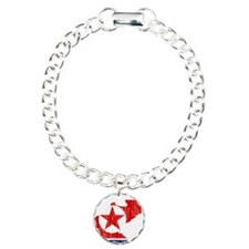 North Korea Flag And Map Bracelet