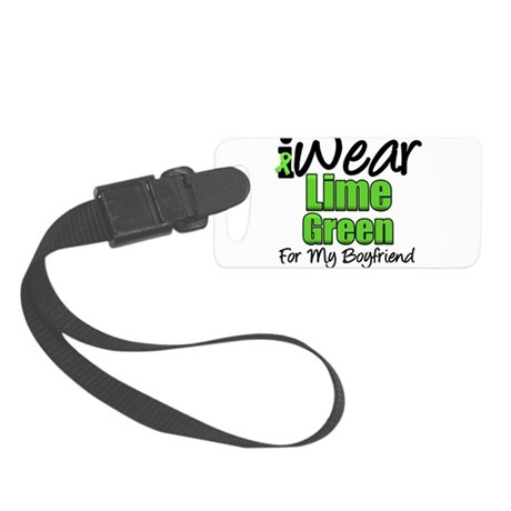 iwearlimegreen11boyfriend.png Small Luggage Tag