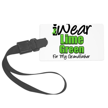 iwearlimegreen11grandfather.png Large Luggage Tag