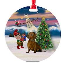 Dachshund Christmas Tree Keepsake (Round)