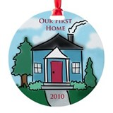 """Our First Home"" 2010 Ornament (Round)"