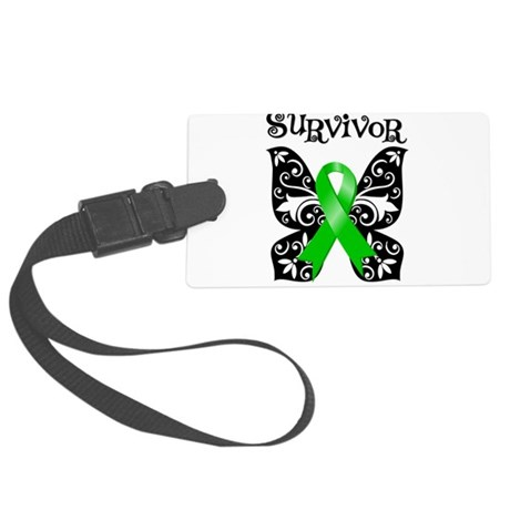 Lymphoma Butterfly Survivor.png Large Luggage Tag