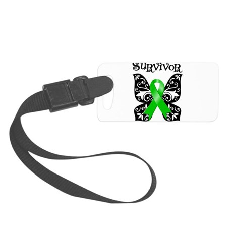 Lymphoma Butterfly Survivor.png Small Luggage Tag