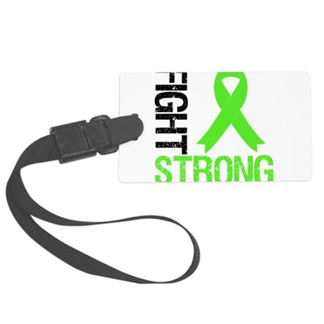 FightStrong-limegreen.png Large Luggage Tag