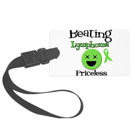 Beating Lymphoma Large Luggage Tag
