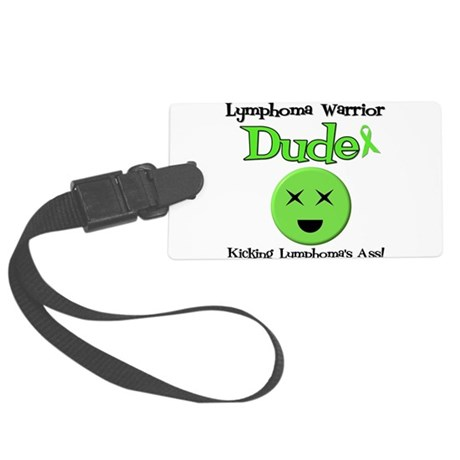 Lymphoma Warrior Dude Large Luggage Tag