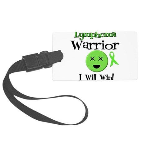 Lymphoma Warrior Large Luggage Tag