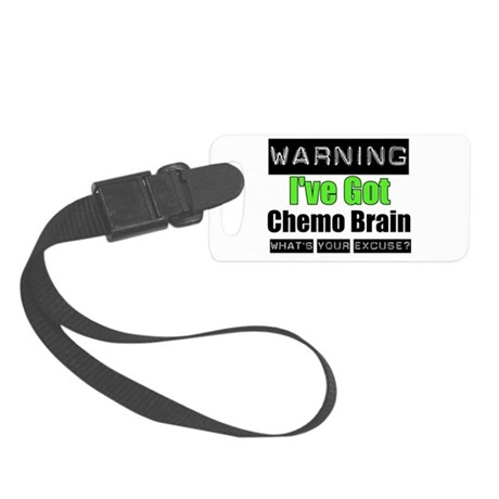 ivegotchemobrainlimegreen.png Small Luggage Tag