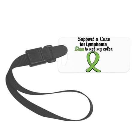 3-limeisnotmycolor.png Small Luggage Tag