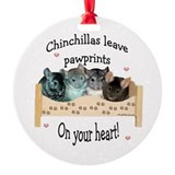 Chin Pawprints Ornament (Round)