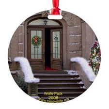 Nero Wolfe 2008 Brownstone Ornament (Round)