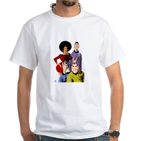 TOS Cast Caraciture White T-Shirt