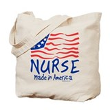 Nurse Made in America Tote Bag