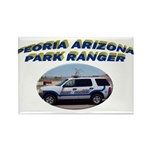 Peoria Ranger Rectangle Magnet