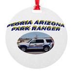 Peoria Ranger Round Ornament